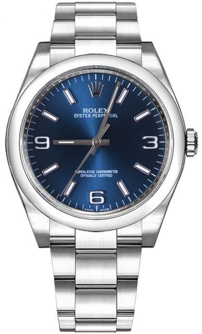 replique Montre Automatique Femme Rolex Oyster Perpetual 36 Cadran Bleu 116000