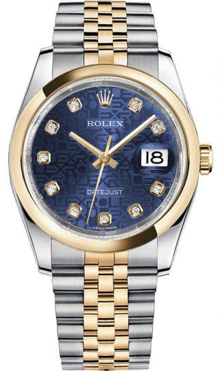replique Montre Automatique Rolex Datejust 36 Blue Diamond Jubilee 116203