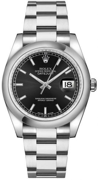 replique Montre Automatique Rolex Datejust 36 Cadran Noir 116200