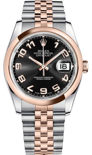 replique Montre Automatique Rolex Datejust 36 Cadran Noir 116201