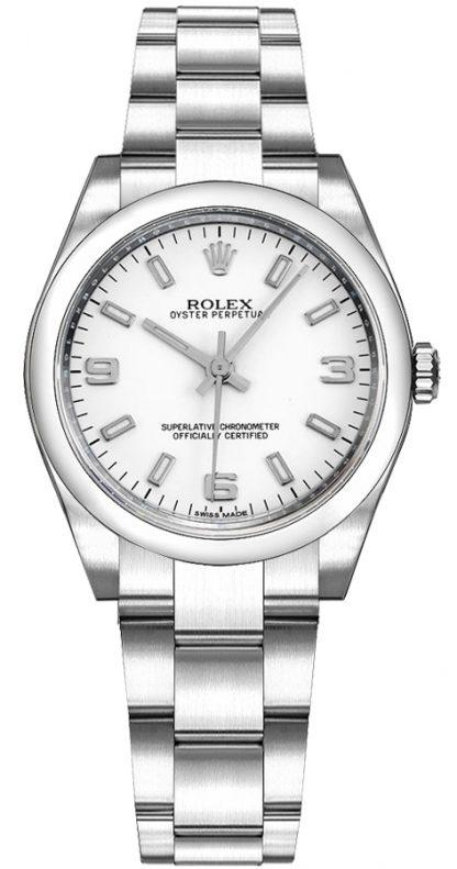replique Montre Automatique Rolex Oyster Perpetual 31 Cadran Blanc 177200