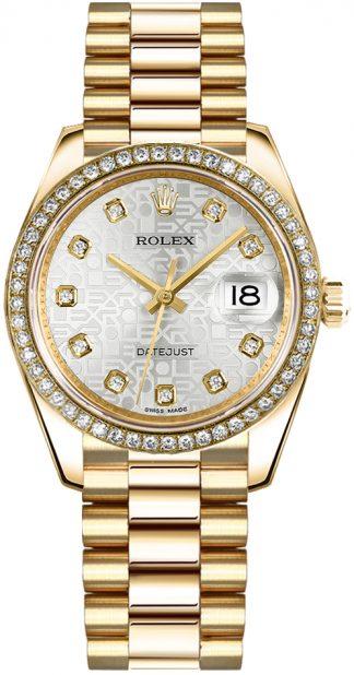 replique Montre Femme Rolex Datejust 31 Automatic Solid Gold 178288