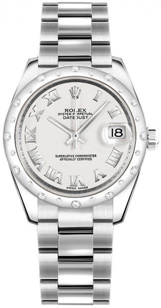 replique Montre Femme Rolex Datejust 31 Blanc Chiffre Romain 178344