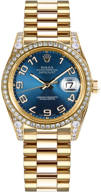 replique Montre Femme Rolex Datejust 31 Blue Diamond 178158
