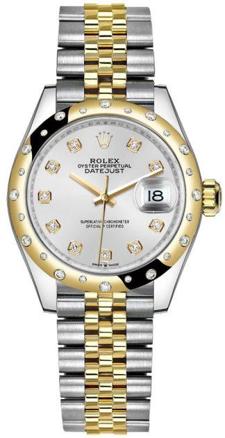 replique Montre Femme Rolex Datejust 31 Cadran Argenté Lunette Diamant 278343RBR