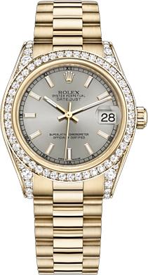 replique Montre Femme Rolex Datejust 31 Cadran Argent 178158