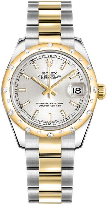 replique Montre Femme Rolex Datejust 31 Cadran Argent Oyster Bracelet 17834