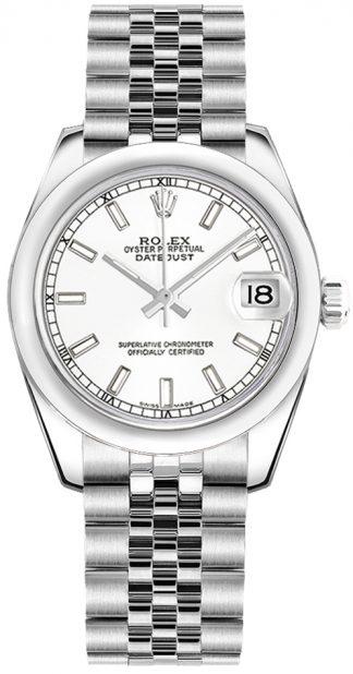 replique Montre Femme Rolex Datejust 31 Cadran Blanc Jubilee Bracelet 178240
