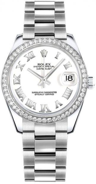 replique Montre Femme Rolex Datejust 31 Cadran Blanc Oyster Bracelet 178384