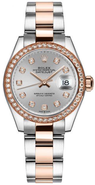 replique Montre Femme Rolex Datejust 31 Cadran Diamant Argent 278381RBR