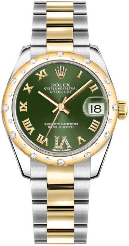 replique Montre Femme Rolex Datejust 31 Cadran Vert Oyster Bracelet 178343