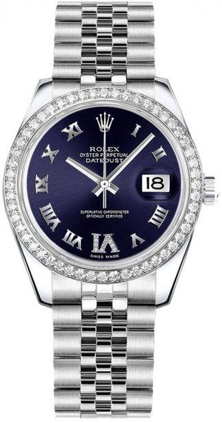 replique Montre Femme Rolex Datejust 31 Cadran Violet Jubilee Bracelet 178384