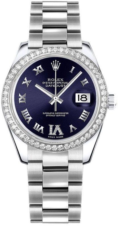replique Montre Femme Rolex Datejust 31 Cadran Violet Or Blanc 178384