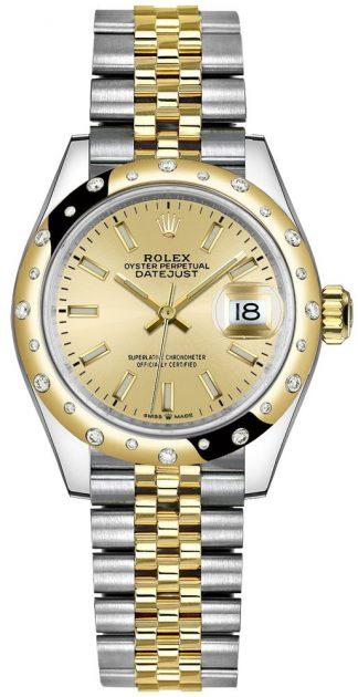 replique Montre Femme Rolex Datejust 31 Champagne Diamond Bezel 278343RBR