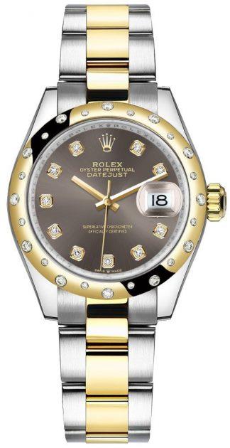 replique Montre Femme Rolex Datejust 31 Dark Grey Diamonds 278343RBR