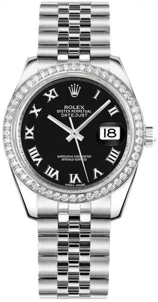 replique Montre Femme Rolex Datejust 31 Diamant Lunette Or Blanc 178384