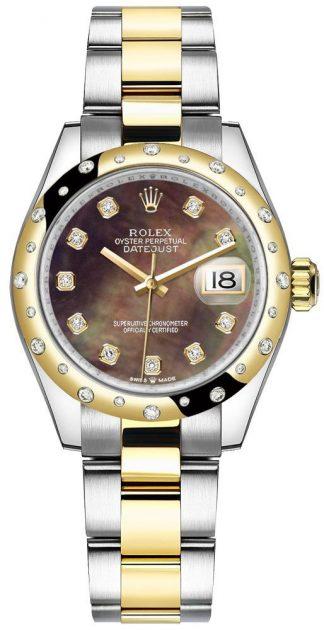 replique Montre Femme Rolex Datejust 31 Diamond Hour Markers 278343RBR