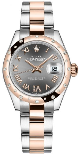 replique Montre Femme Rolex Datejust 31 Everose Or & Oystersteel 278341RBR