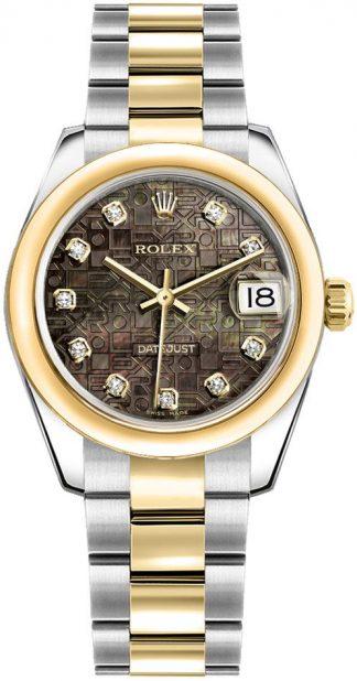 replique Montre Femme Rolex Datejust 31 Jubilee Diamond Black Dial 178243