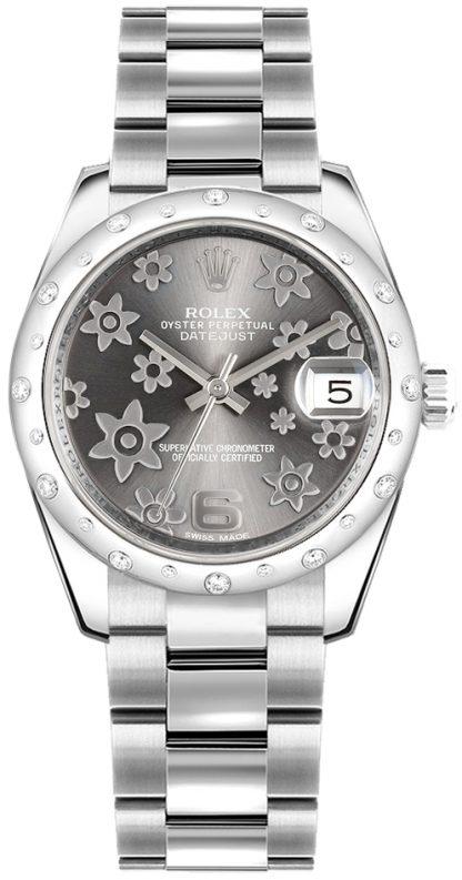 replique Montre Femme Rolex Datejust 31 Or Blanc & Acier 178344