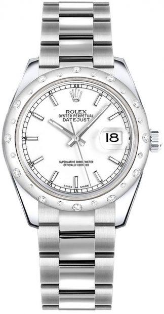replique Montre Femme Rolex Datejust 31 Or Blanc et Diamants 178344