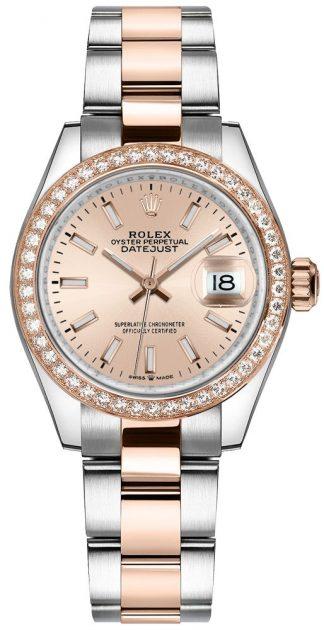 replique Montre Femme Rolex Datejust 31 Or Rose & Acier 278381RBR