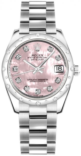 replique Montre Femme Rolex Datejust 31 Rose Nacre Diamant 178344