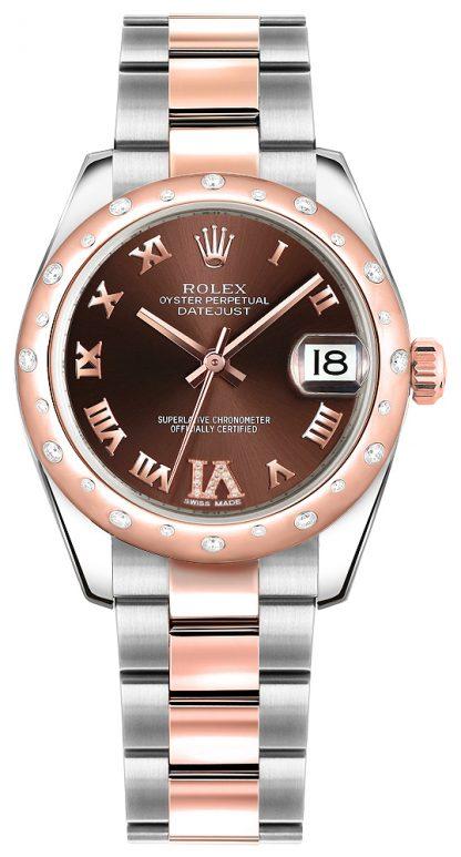 replique Montre Femme Rolex Datejust 31 en acier inoxydable et or rose 178341