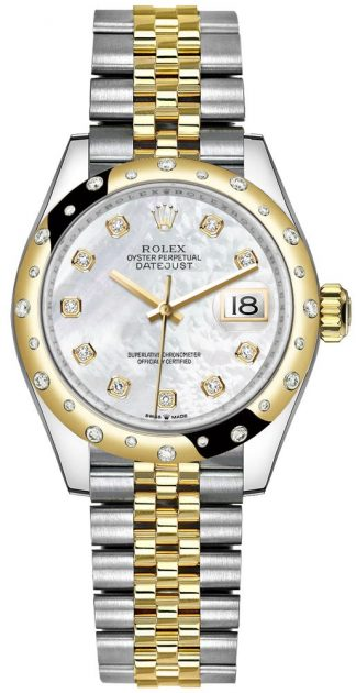 replique Montre Femme Rolex Datejust 31 en or jaune et acier Oystersteel 278343RBR
