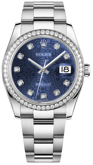 replique Montre Femme Rolex Datejust 36 Blue Diamond Dial 116244