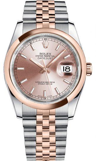 replique Montre Femme Rolex Datejust 36 Cadran Rose Jubilee Bracelet 116201