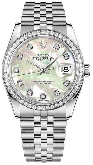replique Montre Femme Rolex Datejust 36 Diamond 116244