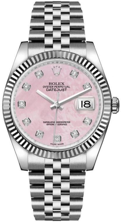 replique Montre Femme Rolex Datejust 36 Rose Cadran Nacre 116234