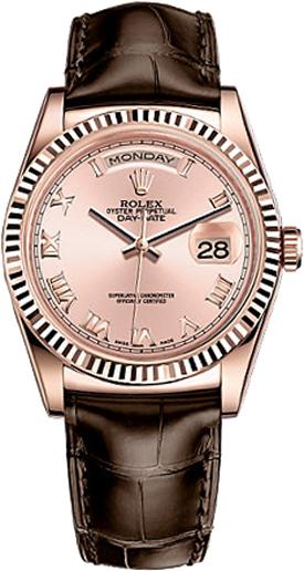 replique Montre Femme Rolex Day-Date 36 Cadran Rose 118135