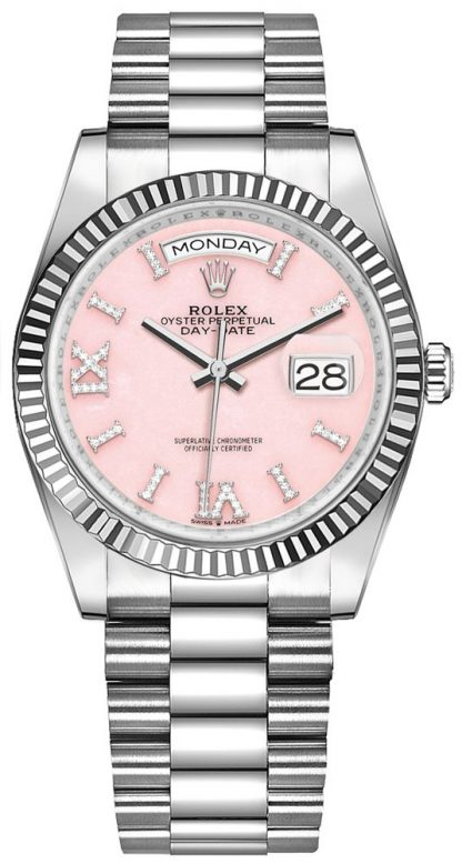 replique Montre Femme Rolex Day-Date 36 Opale Rose 128239
