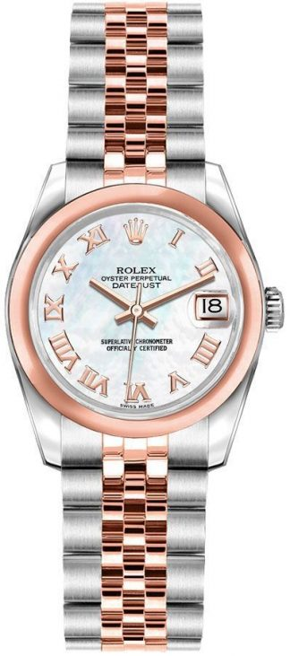 replique Montre Femme Rolex Lady-Datejust 26 Or Rose & Acier 179161