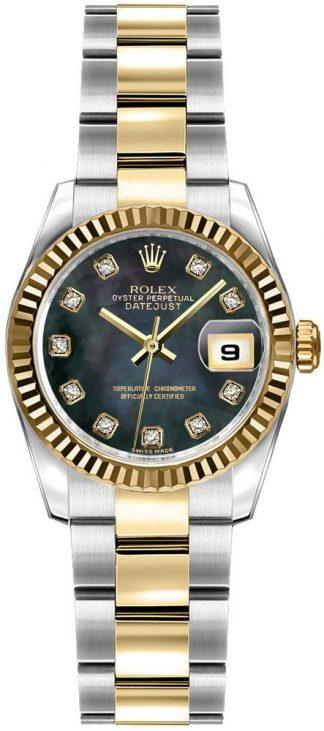 replique Montre Femme Rolex Lady-Datejust 26 Oyster Bracelet Or et Acier 179173
