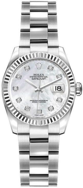 replique Montre Femme Rolex Lady-Datejust 26 Pearl Diamond 179174