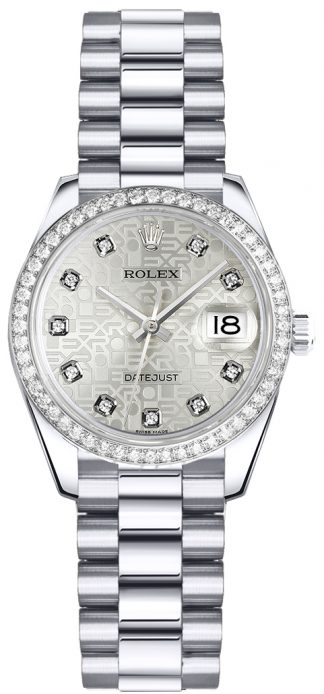 replique Montre Femme Rolex Lady-Datejust 26 Platine 179136