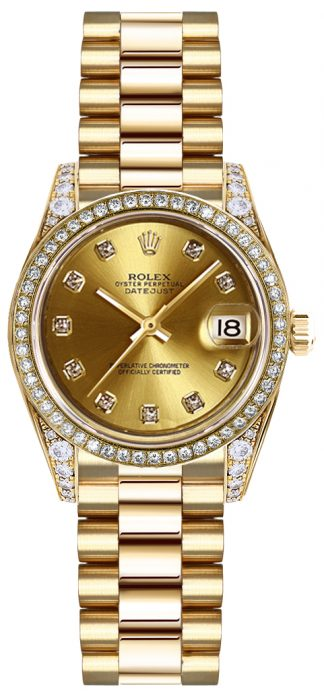 replique Montre Femme Rolex Lady-Datejust 26 en Or Massif 179158