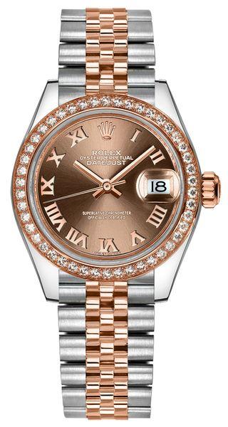replique Montre Femme Rolex Lady-Datejust 28 Or et Acier 279381RBR