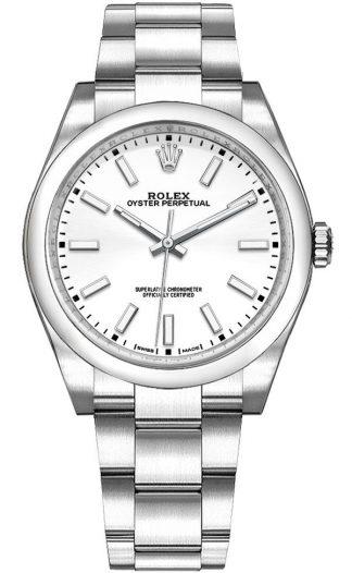 replique Montre Femme Rolex Oyster Perpetual 34 Cadran Blanc 114200