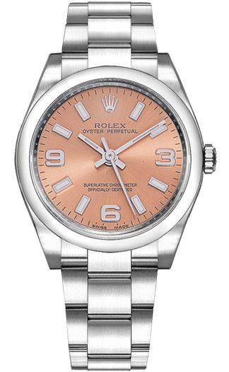 replique Montre Femme Rolex Oyster Perpetual 34 Cadran Rose 114200