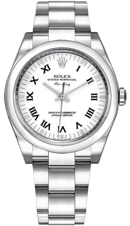replique Montre Femme Rolex Oyster Perpetual Air-King Cadran Blanc 114200
