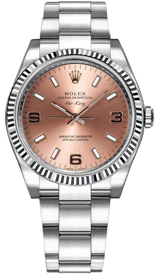 replique Montre Femme Rolex Oyster Perpetual Air-King Cadran Rose 114234