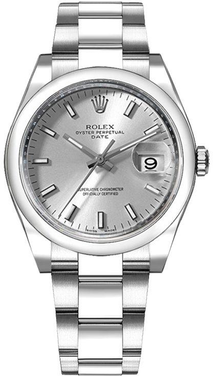 replique Montre Femme Rolex Oyster Perpetual Date 34 Cadran Argent 115200
