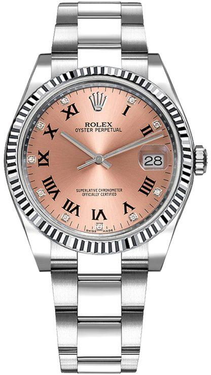 replique Montre Femme Rolex Oyster Perpetual Date 34 Cadran Rose 115234