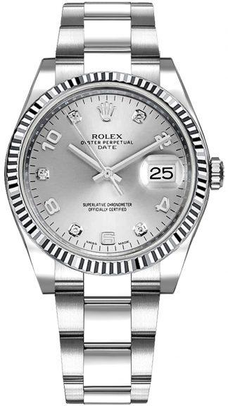 replique Montre Femme Rolex Oyster Perpetual Date 34 Diamond 115234
