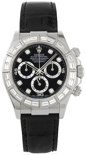 replique Montre Homme Rolex Cosmograph Daytona Black Diamond Dial 116589