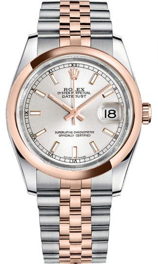 replique Montre Homme Rolex Datejust 36 Cadran Argent 116201